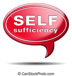 próprio, suficiência