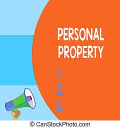 próprio, texto, aquilo, conceito, em branco, enorme, pessoal, coisas, balloon, escrita, megaphone., tomar, tu, vazio, lata, móvel, significado, parte, metade, announcement., property., pequeno, letra