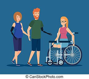 prótese, ferimento, físico, reabilitação, pessoas