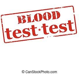 pröva, blod