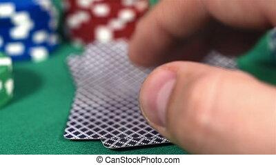 prüfung, spieler, feuerhaken, karten