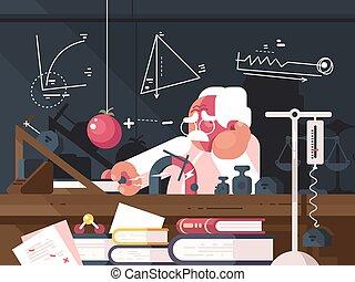 prüfungen, physik, wissenschaftler, marken