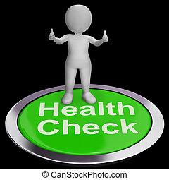 prüfungen, taste, kontrollieren, gesundheit, medizinischer ...
