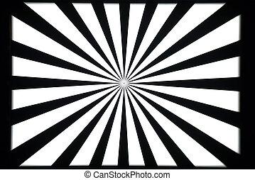 prüfungsmuster, weißes, schwarz