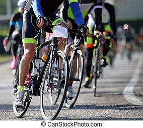 prąd, droga, rowerzyści, uczestniczyć