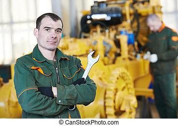 průmyslový, assembler, dělník