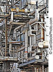 průmyslový building, ocel, dýmka