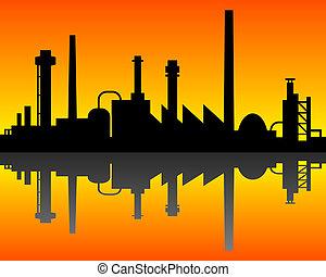 průmyslový, grafické pozadí
