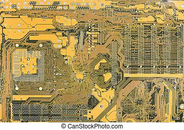 průmyslový, hi- tech, elektronický, grafické pozadí