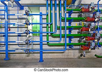 průmyslový, hydraulics