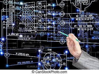 průmyslový, inženýrství, technika