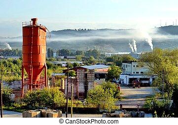 průmyslový, krajina