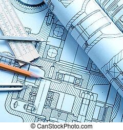 průmyslový, kreslení