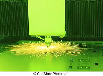 průmyslový laser, řezačka