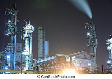 průmyslový nechat na holičkách, v noci