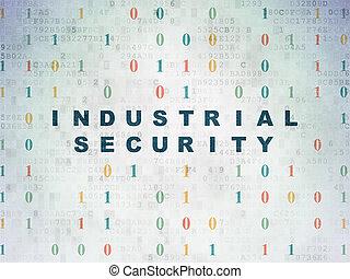 průmyslový, soukromí, noviny, grafické pozadí, digitální, bezpečí, concept: