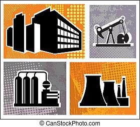 průmyslový, stavení