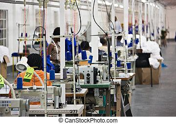 průmyslový, textilní továrna