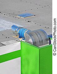 průmyslový, ventilování systém
