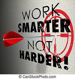pr, cible, efficace, efficace, smarter, travail, harder, flèche, pas, but