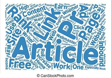 pr, concept, woord, tekst, rang, verhogen, hoe, achtergrond, wolk