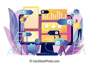 PR strategy concept vector illustration. - Digital PR agency...