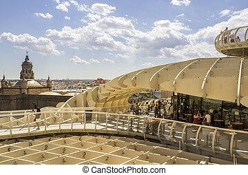 praça, la, maio, topo, de, metropol, panorâmico, encarnacion, 2014, sevilla, parasol, 31, vista