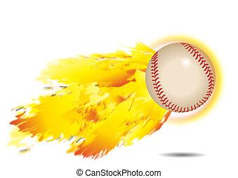 prażący, baseball