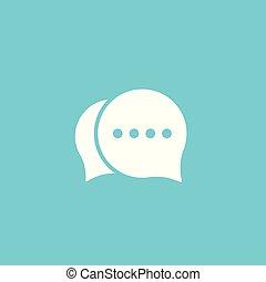 praatje, commentaar, pictogram