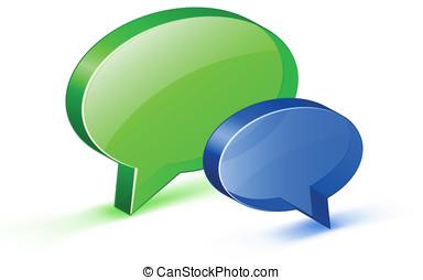 praatje, of, website, steun, concept