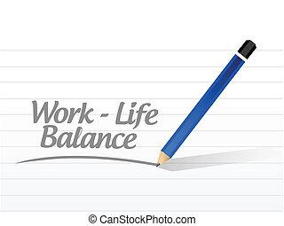 praca, życie, waga, wiadomość