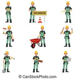 praca, budowlaniec