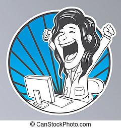 praca, komputer