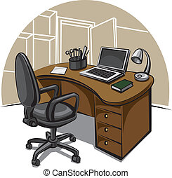 praca miejsce, biuro