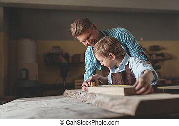 praca, ojciec, syn
