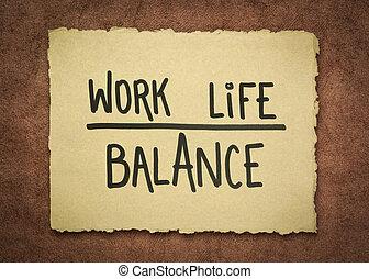 praca, pojęcie, życie, waga