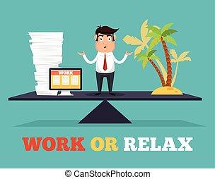 praca, waga, życie, pojęcie