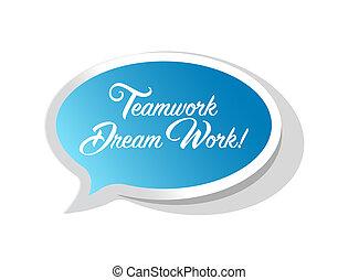 praca, wstążka, sen, marki, teamwork, jasny