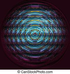 prachtig, abstract, geïllustreerd, glas, voorwerp