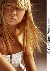 prachtig, blonde , meisje
