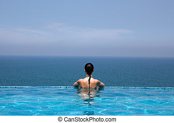 prachtig, hotel, kerala, vakantiepark, staat, indi, pool,...