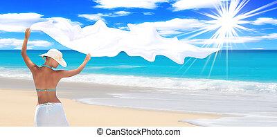 prachtig, strand