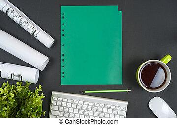 pracoviště, o, strůjce, -, závitky, a, plans.