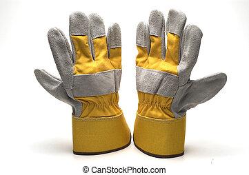 pracować rękawiczki