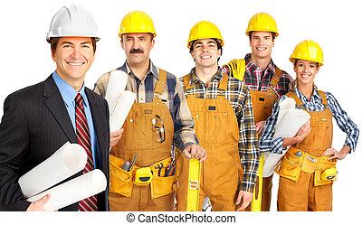pracownicy, ludzie