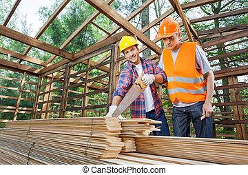 pracownicy, zbudowanie, samiec, umiejscawiać, pracujący