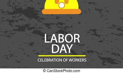 pracowniczy dzień, hełm bezpieczeństwa, afisz