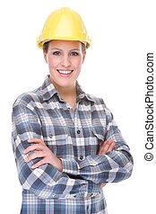 pracownik, contruction, (woman)