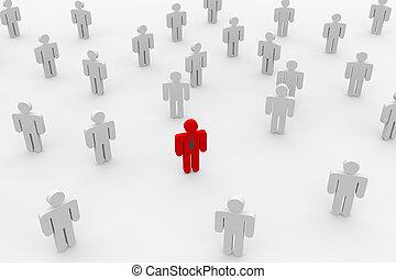 pracownik, search., ludzie