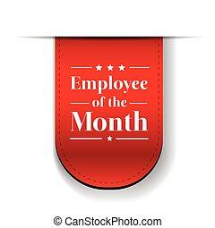pracownik, wstążka, nagroda, miesiąc